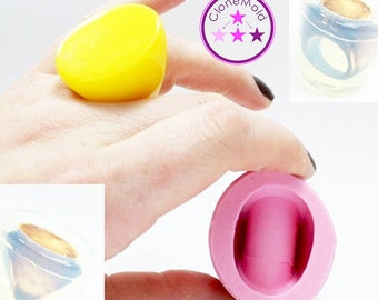 Ring Mold Silicone Oval Split Mold; Size 6, 7