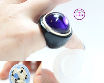 Ring Mold Bubble Dome ; Silicone Rubber; Size 5.25, 6.5, 7.75, 8.75