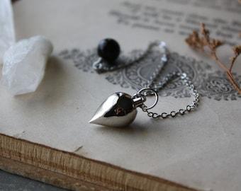 Silver Crystal Pendulum