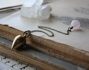 Brass Crystal Pendulum