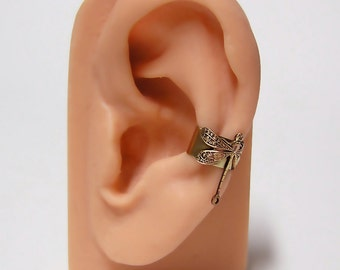 tiny Forest Dragonfly Ear Cuff