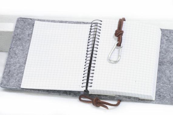 Kalender Hülle A5 Leder Filz Personalisiert
