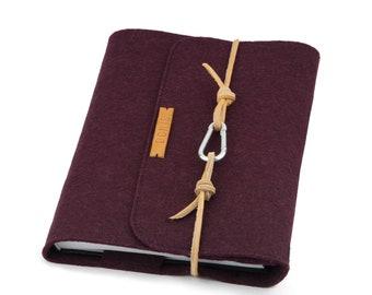Calendar A5 PERSONALIZED Sleeve Felt Notebook Purple Plum Scheduler Felt Case Filofax Moleskine