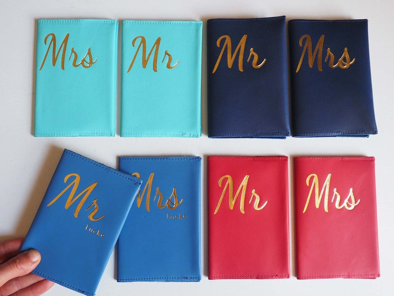 8725caf73 Personalised Mr and Mrs Passport cover gift set gifts for