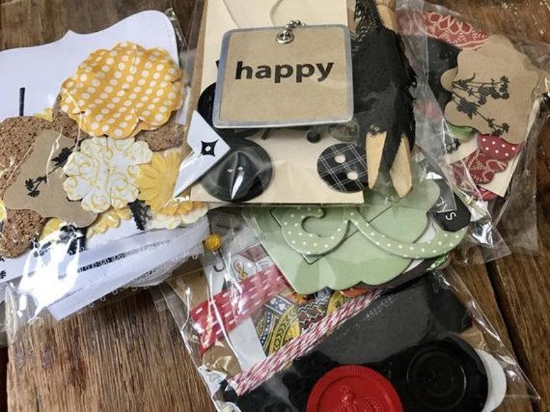 junk journal mystery grab bag smash book diy kit  etsy