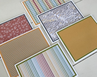 Studio Calico - Snippets - Stationery with Coordinating Envelopes - Set of 6 - Handmade Set of Notecards
