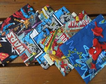 Reusable snack bags -  Reuse snack bag -  Super heroes - Pick your favorite: Star wars, Superman, Batman, Spiderman and Marvel comics