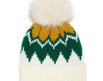 d65d2121270 Green Bay Packers inspired pom beanie