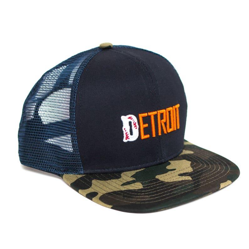 Detroit camouflage snapback hat image 0