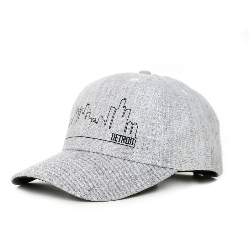 Detroit skyline snapback hat image 0