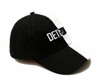 Detroit black and white baseball cap