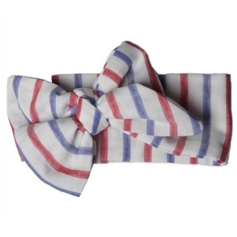 Red white & blue patriotic headwrap image 0