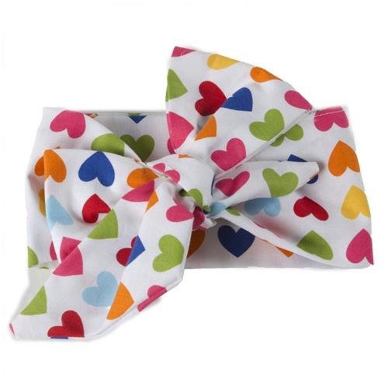 rainbow hearts valentine headwrap image 0