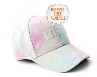 Detroit tie dye baseball cap