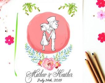 Wedding Coloring Book Download - Printable Children Activity Book -  Kids Book - Wedding Coloring Pages - Wedding Reception Activities
