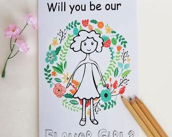 Will You Be My Flower Girl Gift - Flower Girl Gift, Will you be Our Flower girl,Kids Wedding Book, Instant Download, Gift for Flower Girl