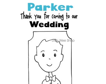 Ring Bearer Wedding Coloring Book Ring Bearer Activity book | Etsy