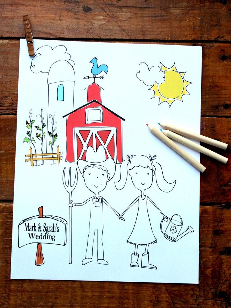 - Wedding Coloring Book For Kids Wedding Activity Book Wedding Etsy