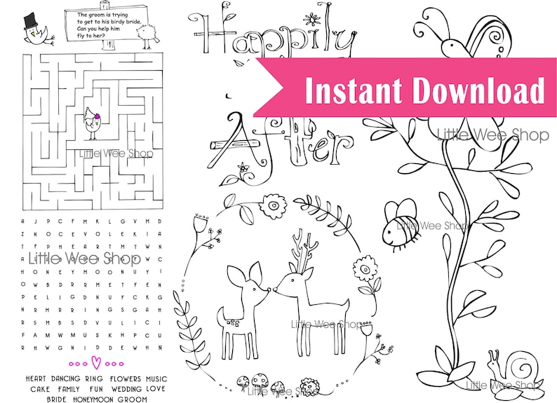 photograph about Printable Wedding Coloring Pages named Marriage Coloring Web pages Childrens Marriage ceremony Like - Printable PDF Instantaneous Obtain - Printable Wedding ceremony Coloring Web page Rustic Marriage Like
