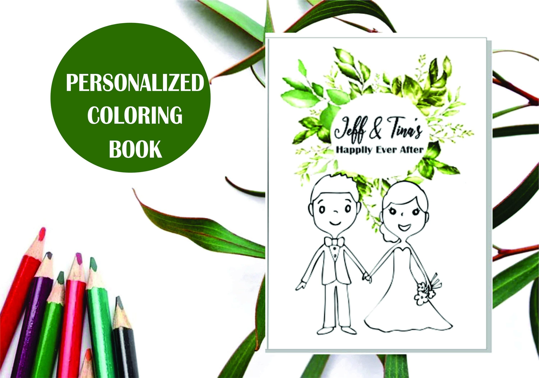 - Wedding Coloring Book Wedding Coloring Pages Wedding Activity Etsy