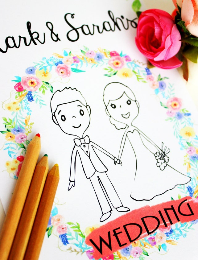 Kids Wedding Favor Wedding Favor For Kids Wedding Coloring Etsy