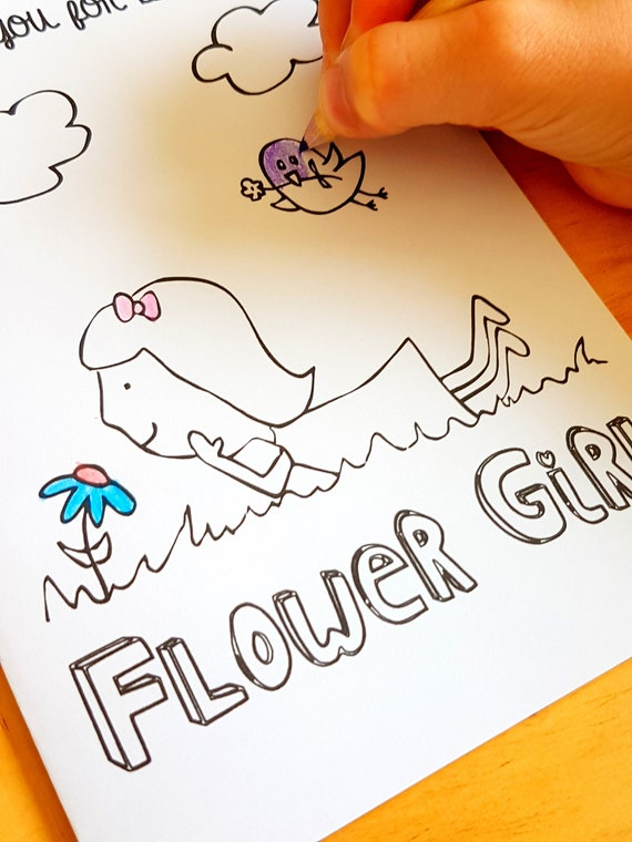 Flowers & Plants Flower Girl Coloring Book Books