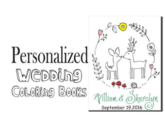 Kids Table Wedding Activity Book - Coloring for Kids Table Activities Download Kids Wedding Favor - Print at Home - Rustic Wedding