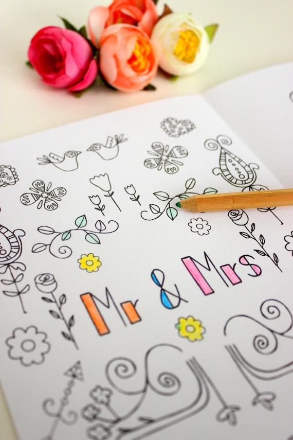 Wedding Coloring Book Download Printable Children Activity Etsy