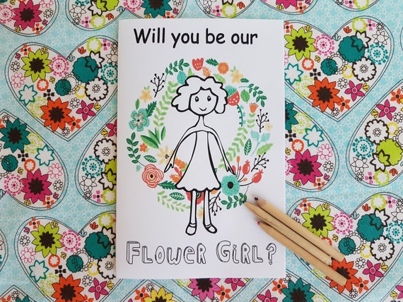 Will You Be My Flower Girl Gift - Coloring Book, Flower Girl Gift, Kids  Wedding Book, Instant Download, Printable Activity Book - PDF