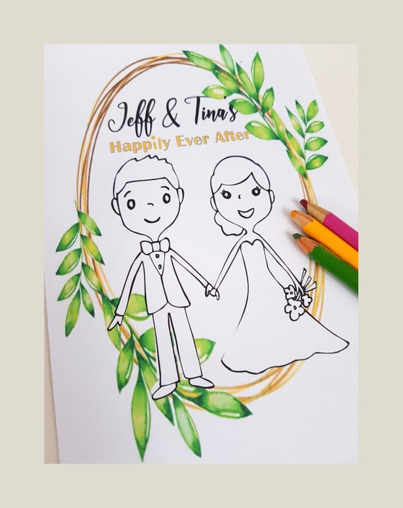 - Wedding Coloring Book Wedding Coloring Pages Wedding Activity Etsy