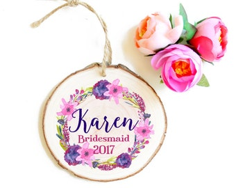 Mother of the Bride Gift , Personalized Ornament for Wedding Party - Wedding Party Gifts - Mother of the Bride - Bridesmaids' Gifts