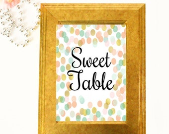 Sweet Table Sign - Wedding Table Signs -  Wedding Table Decor - Three 4x6 Wedding Signs