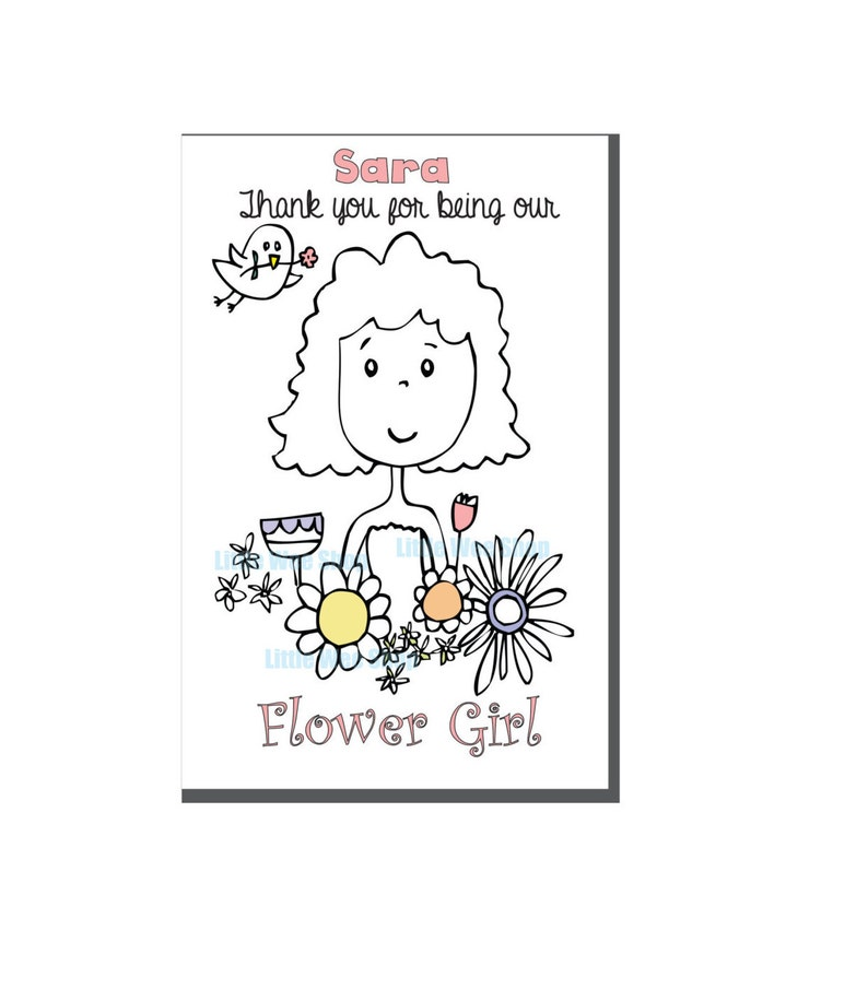 Wedding Coloring Book Flower Girl Activity Book Etsy