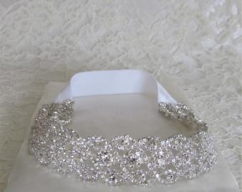 Silver Crystal Rhinestone Bridal Garter,Wedding Garter,Bridal Accessories,Style #G16