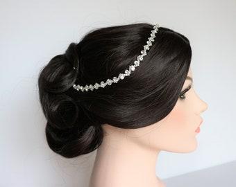 Silver Rhinestone Bridal Headband,Bridal Accessories,Wedding Accessories,Crystal Wedding Hairband,Bridal Headpiece,#H31
