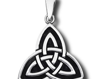 Unisex Stainless Steel Celtic Triquetras Celtic Trinity Knot Pendant with bail