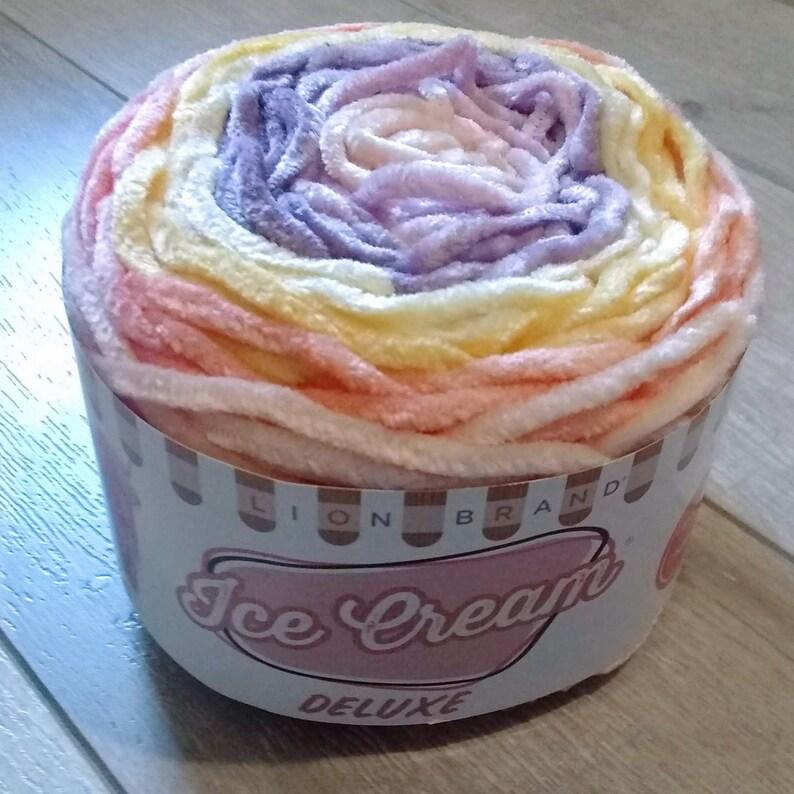 Lion Brand Ice Cream Deluxe Yarn ~ Cherry Grove ~ New ~ Free Shipping