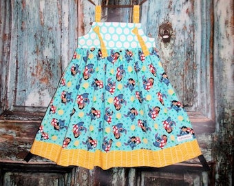 Lilo and Stitch RTS Girls Size 5 6 Readymade Birthday Party Disney Vacation Hawaii Trip Cruise Ready to Ship