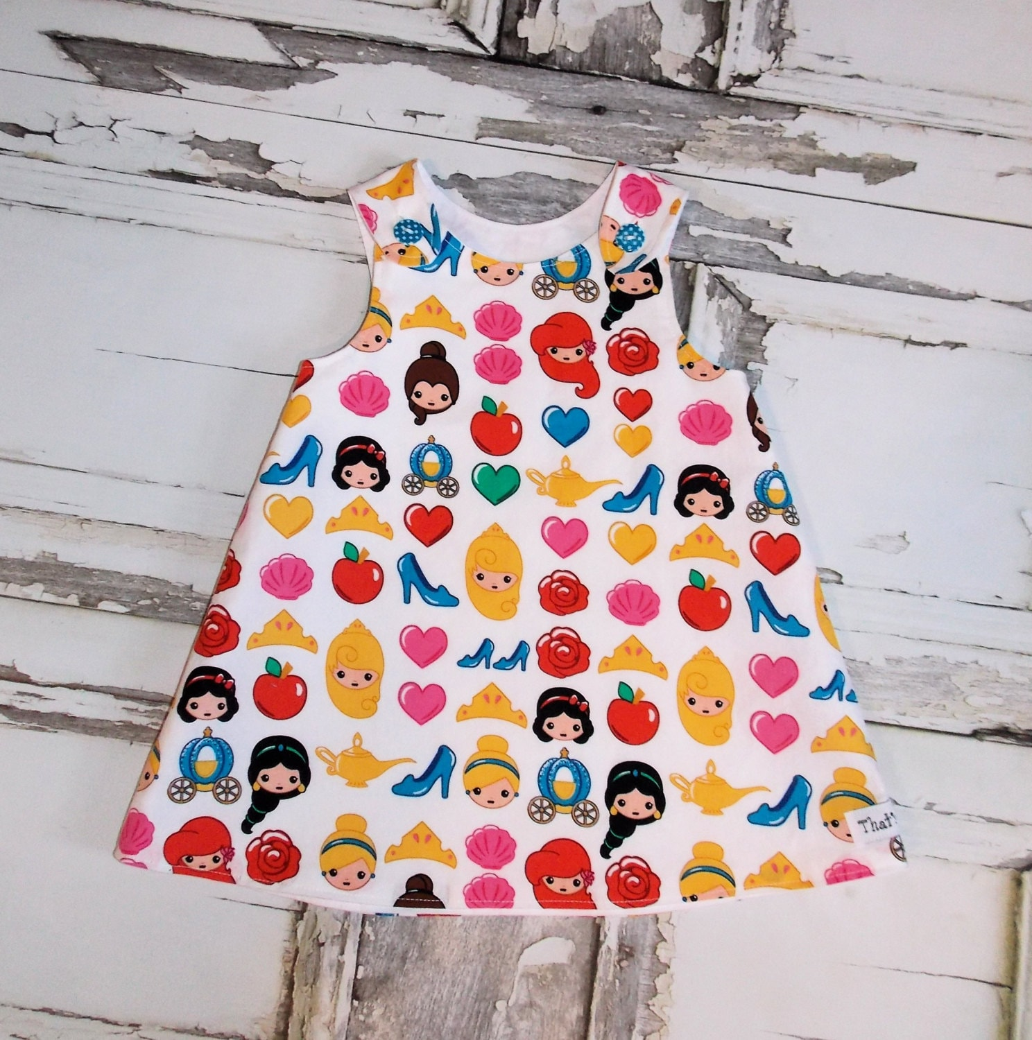 Cinderella Princess Character Dress Child 3t 4t 5 6 7: Disney Emoji Princess Cuties Aline Dress Sz 2T 3T 4T 5 6 7