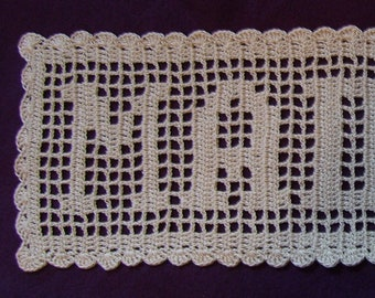 Filet Crochet Name Etsy