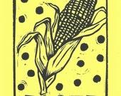 Loteria Corn Linocut