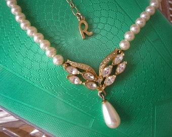 Vintage Rosita Pearl Necklace, Rosita Pearl Choker, Bridal Pearls, Rosita Jewellery, Dainty Pearls, Classic Pearls, Ivory Pearl Necklet