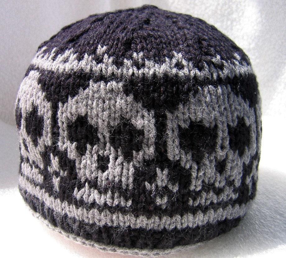 928db6c79 Knit skull cap,knitted skull beanie / Pirate Ahoy-Knitted Skull Hat /  unisex hat/ hand knitted beanie/skull lover