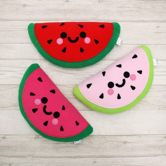Red Watermelon Plush Pillow – hannahdoodle