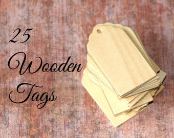 Wooden tags | Etsy