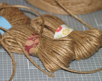 Jute Twine . 15 Yards 3-Ply Twine Packaging Supplies Rustic Eco-Friendly Thin Rope Biodegradable Package Ties Brown String Gift Wrapping