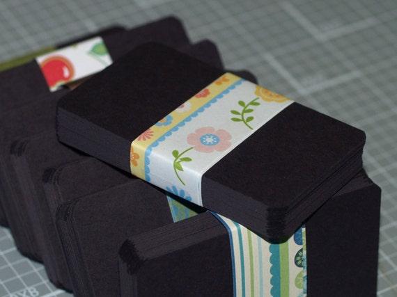 Visitenkarten Rohlinge 100 Matt Schwarzes Quadrat Oder Abgerundeten Ecken Recycling Karton Verkäufer Liefert 2 X 3 5 Diy Visitenkarte Biz