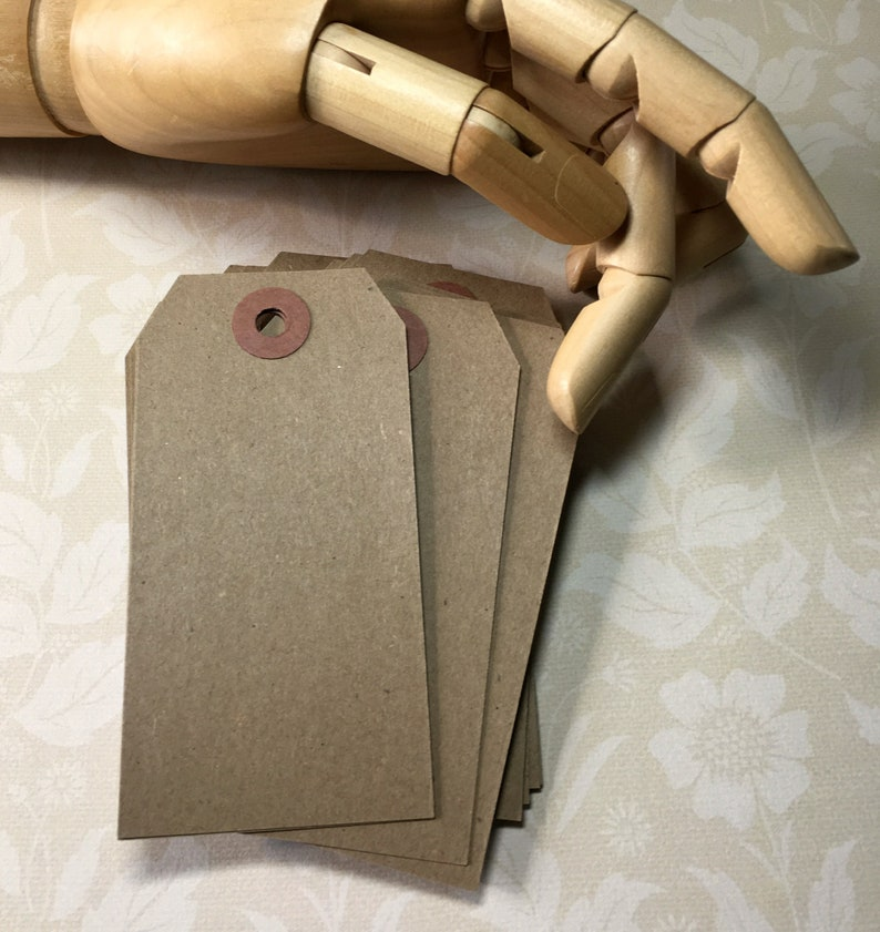 250 - Size #4 Medium Kraft Tags 4-14 x 2-18 Economy Shipping Tags Etsy Shop Supplies Paper Goods Merchandise Tags Quantity Discount