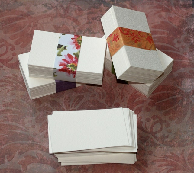 50 business card blanks watercolor paper cold press white etsy image 0 colourmoves