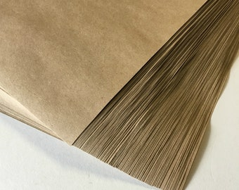 """Kraft Paper Sheets (100) . Full 8.5"""" x 11"""" Grocery Bag Brown 50lb DIY belly bands wedding supplies wrapping paper art and craft supply"""